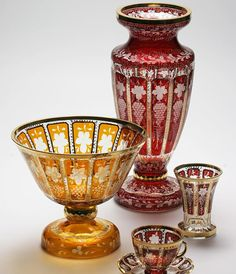 Bohemia crystal glass - Stained Cutted Glass