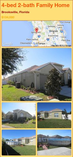 4-bed 2-bath Family Home in Brooksville, Florida ►$134,000 #PropertyForSale #RealEstate #Florida http://florida-magic.com/properties/90426-family-home-for-sale-in-brooksville-florida-with-4-bedroom-2-bathroom