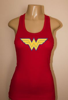 Wonder Woman Racerback Tank Top Womens Workout Top Fitness Gym Crossfit | eBay