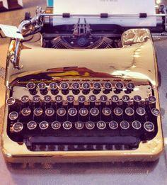gold typewriter