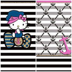 Pretty Walls: Pretty Sailor 4 piece wallpaper set