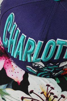 3ad31459001 Charlotte Hornets Customized Snapback Hat Tropical Brim Charlotte Hornets