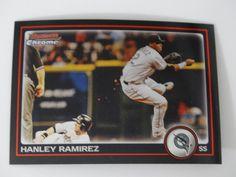2010 Bowman Chrome #122 Hanley Ramirez Florida Marlins Baseball Card #BowmanChrome #FloridaMarlins