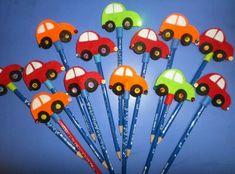 Kalem süsü Foam Crafts, Preschool Crafts, Diy And Crafts, Paper Crafts, Diy For Kids, Crafts For Kids, Pen Toppers, Pencil Crafts, Fete Ideas