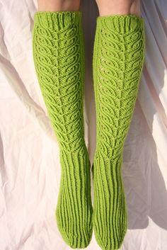 knee high socks - knitting pattern. $4.99, via Etsy.