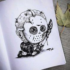 Caricaturas de personajes de Terror :)