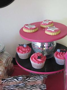 pink, black and zebra! Birthday Party Ideas | Photo 2 of 24 | Catch My Party