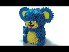 3D origami teddy bear tutorial - YouTube