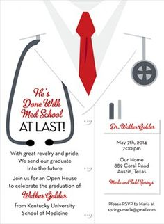 21 Medical School Graduation Invitation Wording Ideas | Invitation
