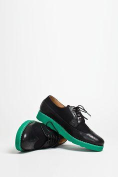 Comme des Garcons SHIRT X Generic Man - Wool Brogue Black -