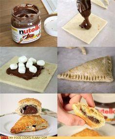 Nutella_Blätterteigrollen