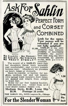 Old Design Shop ~ free digital image: Sahlin ladies' corset vintage magazine advertisement