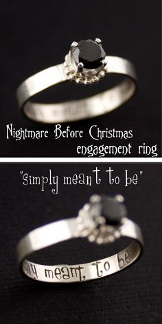 "Nightmare Before Christmas Engagement Ring ""simply meant to be"" from Spiffing Jewelry"