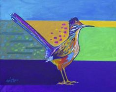 """Saatchi Art Artist John nieto; Painting, """"Chaparral (Roadrunner)"""" #art"""