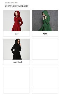 cadeau voor vrouwen, deze jas van wol is voor u als u op zoek bent naar een winterjas, voorzien van een capuchon jas ontwerp, prachtig gestructureerd, driehoekig gevormd, empire taille bovenlijfje met naad detaillering dat leidt in een brede stromend rok. Donker rode jassen gaan nooit van