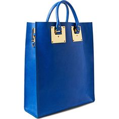 I want this so bad my shoulder is hurting to feel those straps over it!  HOTNESS!    SOPHIE HULME Double plate tote (Stamped blue)