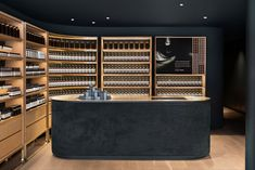 Aesop Montreal store by Alain Carle draws on local jazz heritage - Dr Wong - Emporium of Tings. Shop Interior Design, Retail Design, Store Design, Pharmacy Design, Montreal, Interior Natural, Aesop Store, Store Interiors, Lokal