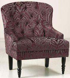 """Lainey Tufted Armchair, 38""""Hx30.5""""W, PLUM JACQUARD by Home Decorators Collection, http://www.amazon.com/dp/B005COL7TM/ref=cm_sw_r_pi_dp_aTTjrb0Z28DTR"""
