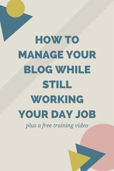 Still working a day job while trying to run your blog? So are a lot of us. Here are a few tips that you can use to stay productive and get things done that you need to! Click through to find out