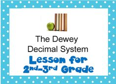 The Book Bug: Freebies, Learning about the Dewey Decimal System
