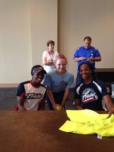 Breja'e Washington and Natasha Watley autograph and pic!!