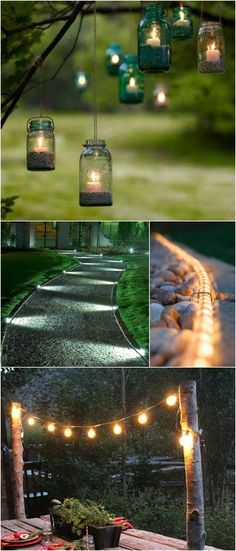 10 Outdoor Lighting Ideas - the middle two would be good for our long driveway