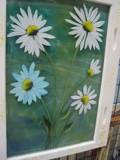 Daisies on an Old Window