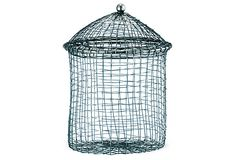 Woven Wire Jars, Asst. of 2 on OneKingsLane.com...use these instead of jars for bathroom accessories (cotton balls, q-tips, etc...)