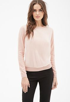 Contemporary Organza Overlay Sweater   Forever 21 - 2000100472