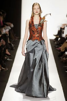 Carolina Herrera...combines my love of couture with my love of Elizabethan clothes