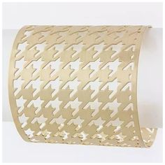 "D13 Houndstooth Metal Cut Out Gold Cuff Bracelet ‼️PRICE FIRM‼️   Art Deco Cuff   Really fun and decorative bracelet.  Cut out houndstooth design.  Gold color metal.  2.25"" wide and is adjustable.  Just bend it to fit your wrist.   This bracelet is sure to dress up just about any outfit. Custom Jewelry Bracelets"