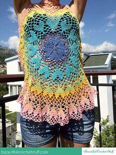 Lovebeat Crochet Top Pattern Crochet Heart Top by MyBeautifulStuff