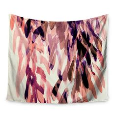 """East Urban Home Abstract Leaves by Iris Lehnhardt Wall Tapestry Size: 50"""" H x 60"""" W"""