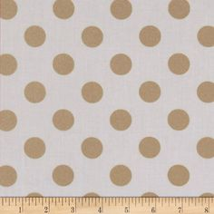 Michael Miller Glitz Metallic Quarter Dot Pearlized White-Rose Gold from @fabricdotcom  From Michael Miller, this cotton print is perfect for quilting, apparel and home decor accents. Colors include white with gold metallic polka dots.