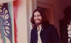 George Harrison at his home in Esher