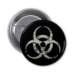 Biohazard Pinback Button. Like us at https://www.facebook.com/ButtonNinjas