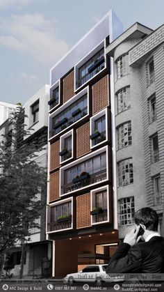 BNS-ProjectsYou are in the right place about Residential Architecture plan Here we offer you the most beautiful pictures about the Residential Architecture you are looking for. When you examine the BNS-Projects part of the picture you can get the m Architecture Résidentielle, Modern Residential Architecture, Japanese Architecture, Sustainable Architecture, Great Buildings And Structures, Building Facade, Green Building, Facade Design, Cheap Hotels