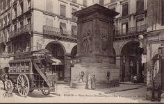 La rue Saint-Dominique et la belle Fontaine de Mars, ou Fontaine du Gros-Caillou, vers 1900