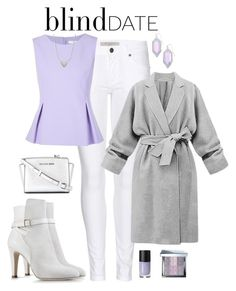"""Lavender outfit"" by neeeea ❤ liked on Polyvore featuring Burberry, Diane Von Furstenberg, Alberta Ferretti, Nadri, Kendra Scott, MICHAEL Michael Kors, Cheeky, Bobbi Brown Cosmetics, women's clothing and women"