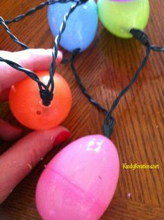 How to make Easter Egg lights for your front porch
