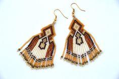 autumn is coming beaded earrings Native American от BEhAnDson