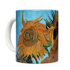 Mug the sunflower - Taza los girasoles Vincent Van Gogh - Kessler Museum Merchandising ( · · Vincent Van Gogh, Van Gogh Sunflowers, Mug Art, Van Gogh Paintings, Fashion Art, Art Work, Museum, Mugs, Clothing