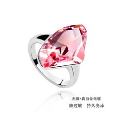 Super hot sale 3 colors big crystal ring wedding jewelry With Crystals from SWAROVSKI good for Christmas gift #Affiliate
