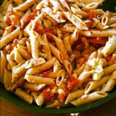 Tomato Artichoke Pasta from our August VegCookbook, Let Them Eat Vegan!