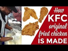 This is a demonstration in a real KFC restaurant in Louisville, KY. While they didn't give away the secret recipe with the famous 11 herbs and spices, they w. Recipe For Kentucky Fried Chicken, Kentucky Chicken, Kfc Fried Chicken Recipe, Homemade Fried Chicken, Roast Chicken, Baked Chicken, Chicken Recipes At Home, Chicken Recepies, Kfc Original Recipe
