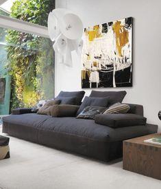 Sofás modernos em formato XXL ~ Decoração e Ideias - casa e jardim