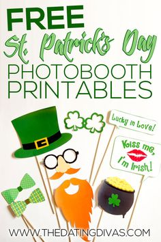 Free St. Patrick's Day Photo Booth Printables from The Dating Divas #stpatricksday #funeducation