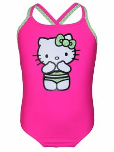 c1a7029cc1 Hello Kitty Neon Pink Cross Back 1PC Swimsuit