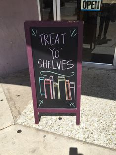 coffeeandquills:  This sign outside my local used bookstore has the best advice.