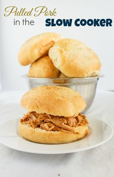 Pulled Pork Sandwiches in the Slow Cooker! #beer